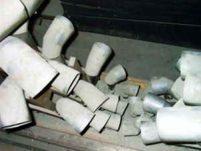 The dusty Great Trumpets, pre-restoration
